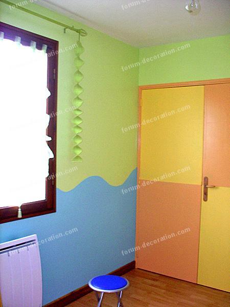 Question travaux d coration conseils choix couleur peinture pour une chambr - 2 couleurs de peinture dans une piece ...