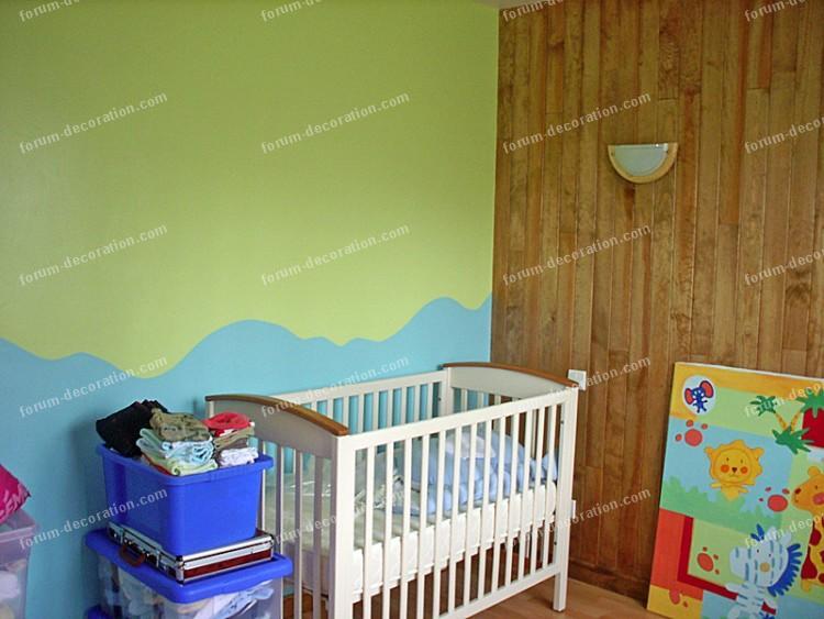 Chambre vert et marron - Couleur peinture chambre enfant ...