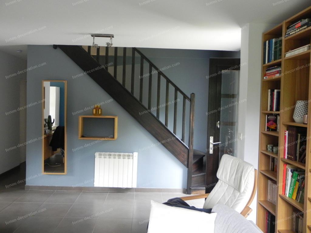 décoration couleur escalier
