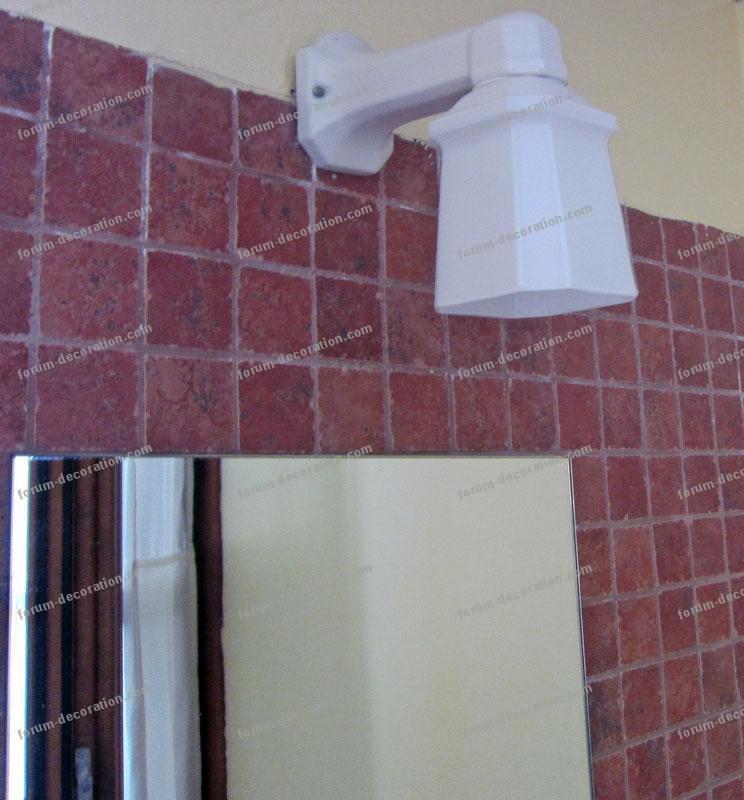 éclairage miroir salle de bains