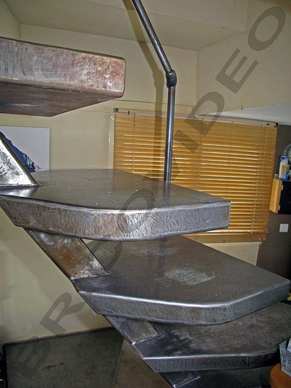 escalier metallique design