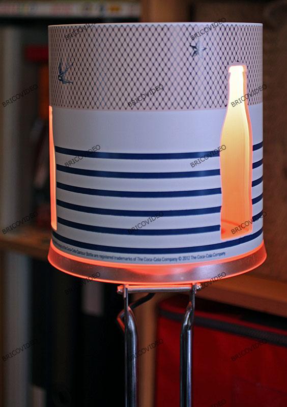 Réaliser une lampe déco multicolore