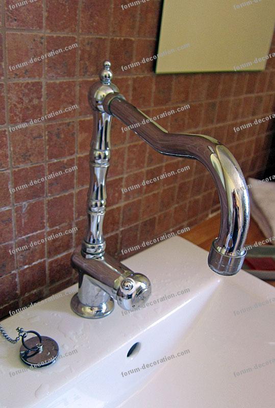 robinet mitigeur rétro salle de bains