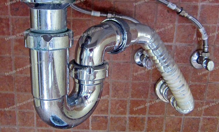 siphon inox salle de bains