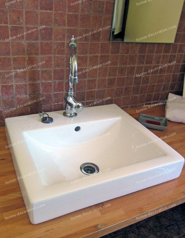 vasque carrée salle de bains