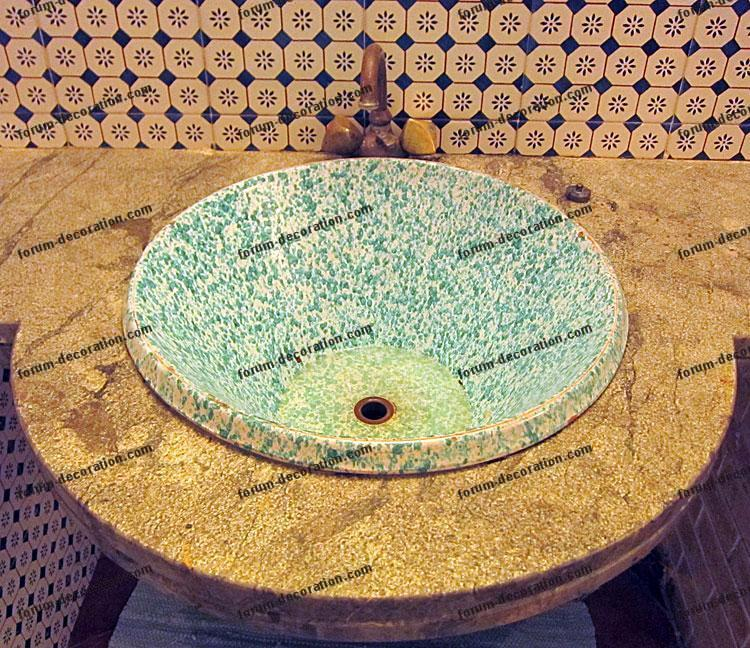 vasque en pierre salle de bains